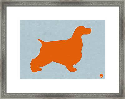 Springer Spaniel Orange Framed Print by Naxart Studio