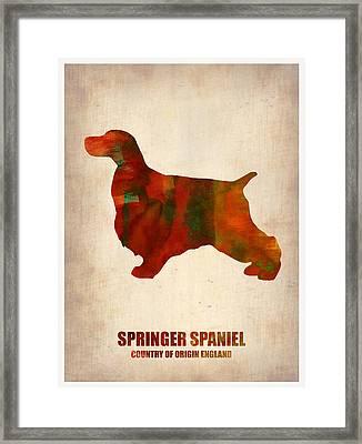 Springer Spaniel Poster Framed Print by Naxart Studio