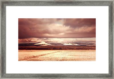 Springerville Arizona View Framed Print by Donna Greene