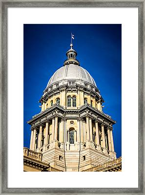 Springfield Illinois State Capitol Dome Framed Print by Paul Velgos