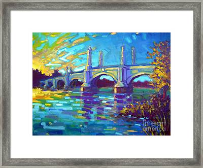 Springfield Memorial Bridge Framed Print by Caleb Colon