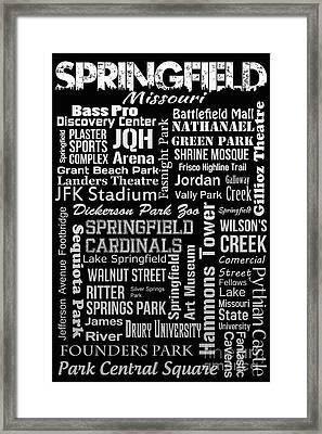 Springfield Framed Print by Ryan Burton