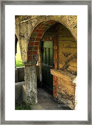 Springhouse Door At Fonthill  Framed Print