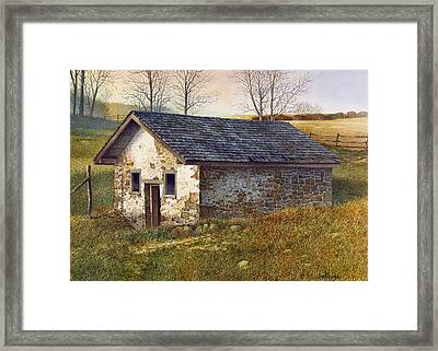Framed Print featuring the painting Springhouse by Tom Wooldridge