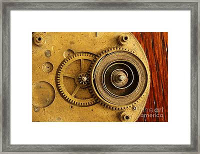 Springs And Gears Framed Print by Adam Long