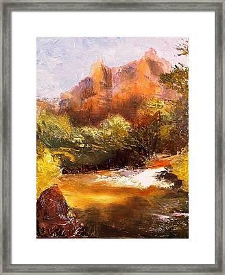 Springs In The Desert Framed Print by Gail Kirtz