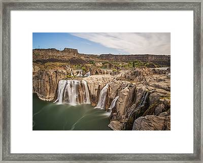 Springs Last Rush Framed Print