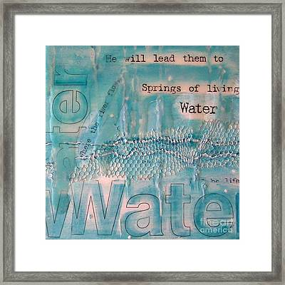 Springs Of Living Water Framed Print by Jocelyn Friis