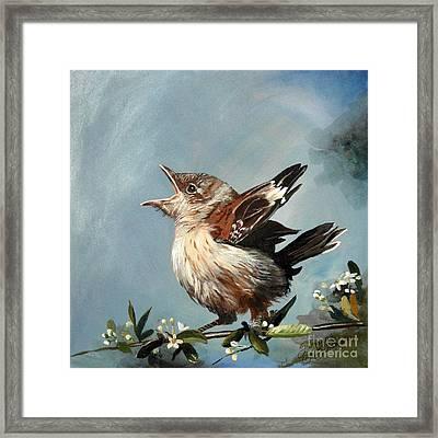 Spring's Promise - Mockingbird Baby Framed Print