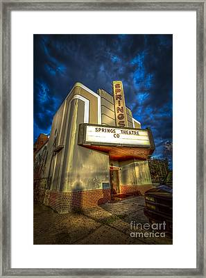 Springs Theater Co Framed Print