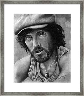 Springsteen Framed Print by Alan Conder