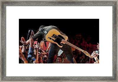 Springsteen In Charlotte Framed Print