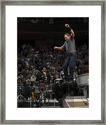 Springsteen In Motion Framed Print