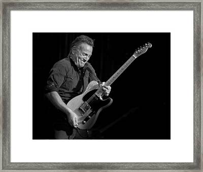 Springsteen Shreds Bw Framed Print