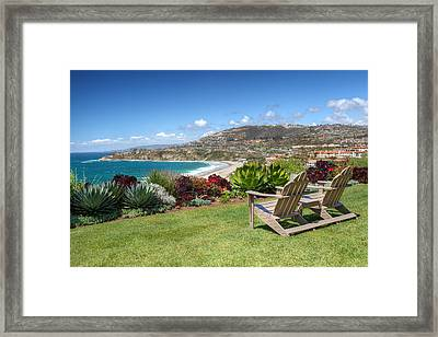 Springtime At Salt Creek Beach Framed Print