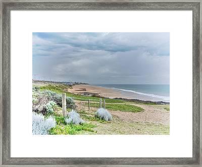 Springtime At The Beach Framed Print by Elaine Teague