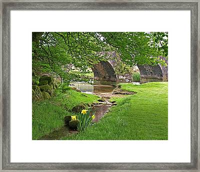 Springtime At Two Bridges Dartmoor Framed Print by Gill Billington