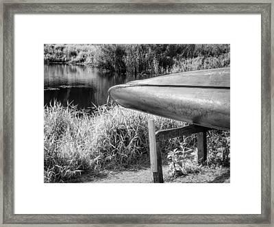 Springtime Canoe Bw Framed Print