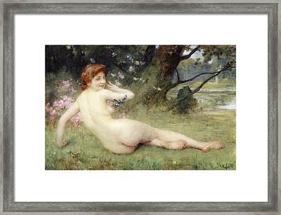 Springtime Framed Print by Charles Lenoir