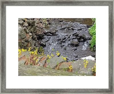 Framed Print featuring the photograph Springtime Creek by Christina Verdgeline