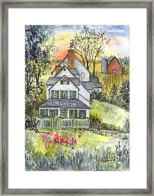 Springtime Down On The Farm Framed Print by Carol Wisniewski