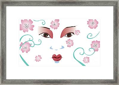 Springtime Geisha Framed Print by Whitney Morton