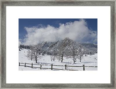 Springtime In Boulder Colorado Framed Print
