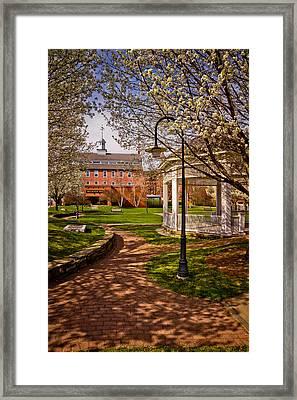 Springtime In Rotary Riverside Park Framed Print