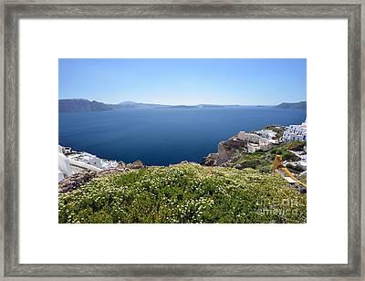 Springtime In Santorini Island Framed Print by George Atsametakis