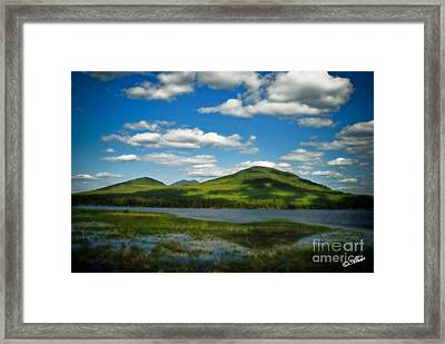 Framed Print featuring the photograph Springtime In The Bigelow Mountains by Alana Ranney