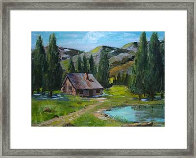 Springtime In The High Country Framed Print by Judi Pence