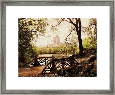 Springtime In The Park Framed Print by Jessica Jenney