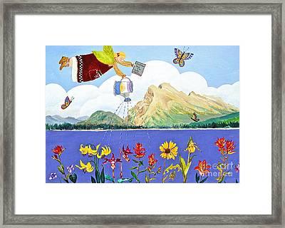 Springtime In The Rockies Framed Print by Virginia Ann Hemingson