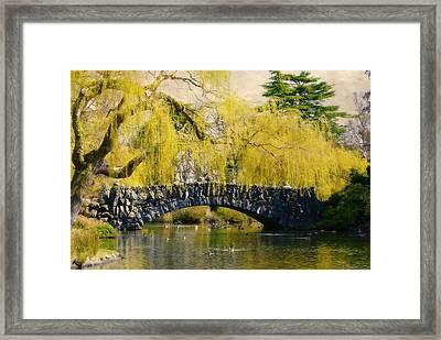 Springtime In Victoria Framed Print