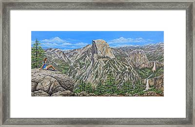 Springtime In Yosemite Valley Framed Print