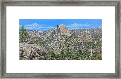 Springtime In Yosemite Valley Framed Print by Jane Girardot