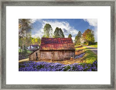 Springtime On The Farm Framed Print by Debra and Dave Vanderlaan