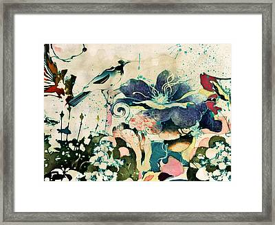Springtime Ornamental Vintage Framed Print by Georgiana Romanovna