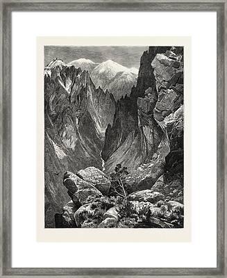 Springville Canyon. Thomas Moran February 12 Framed Print by American School