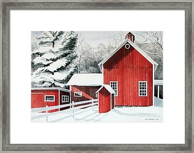 Springwater Barns Framed Print
