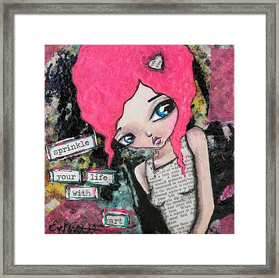 Sprinkle With Art Framed Print