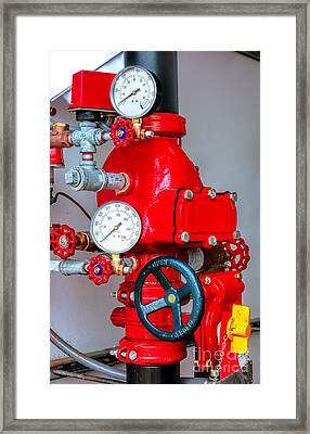Sprinkler Control Framed Print