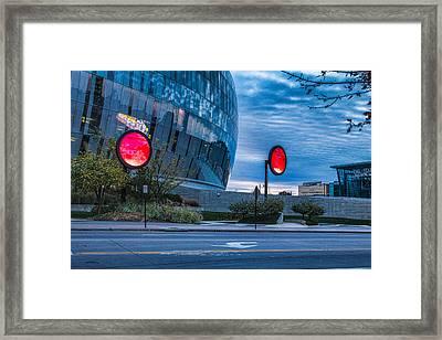Sprint Center Morning Framed Print
