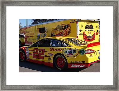 Sprint Cup Series 22 Framed Print