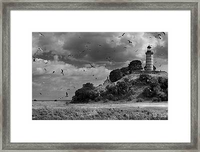 Sprogoe Lighthouse Framed Print by Robert Lacy