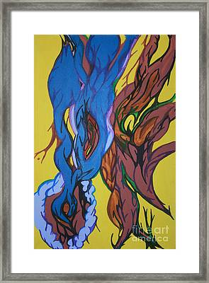 Sprouting Seed 1 Framed Print by Mary Mikawoz