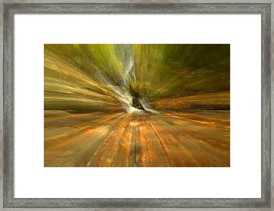 Spruce Flats Falls Explosion Framed Print