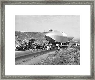 Spruce Goose Hull On The Move Framed Print