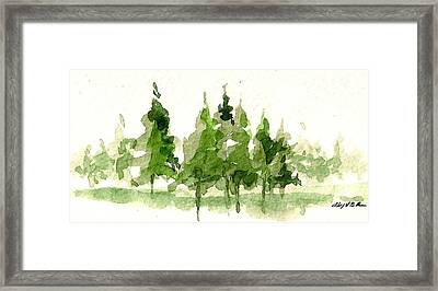 Framed Print featuring the mixed media Spruce Grove by Tim Oliver