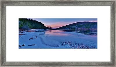 Spruce Knob Lake Sunset Framed Print